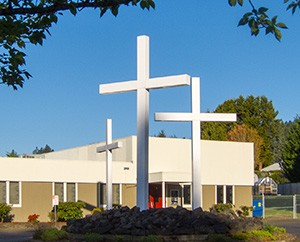 Shepherd of the Valley Church Building Crosses
